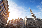 beautiful view of Brussels, Belgium