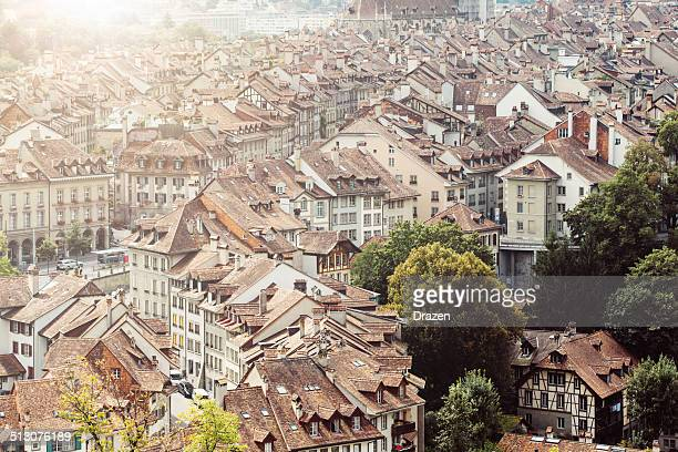 Architecture, roofs and landmarks in City of Bern, Switzerland