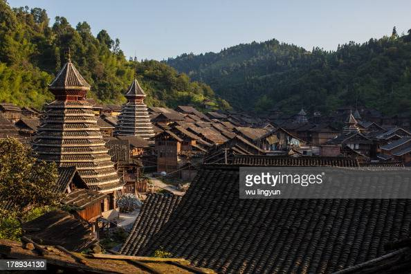 CONTENT] architectures of Chinese Dong village at Huanggang village of Liping in Guizhou province