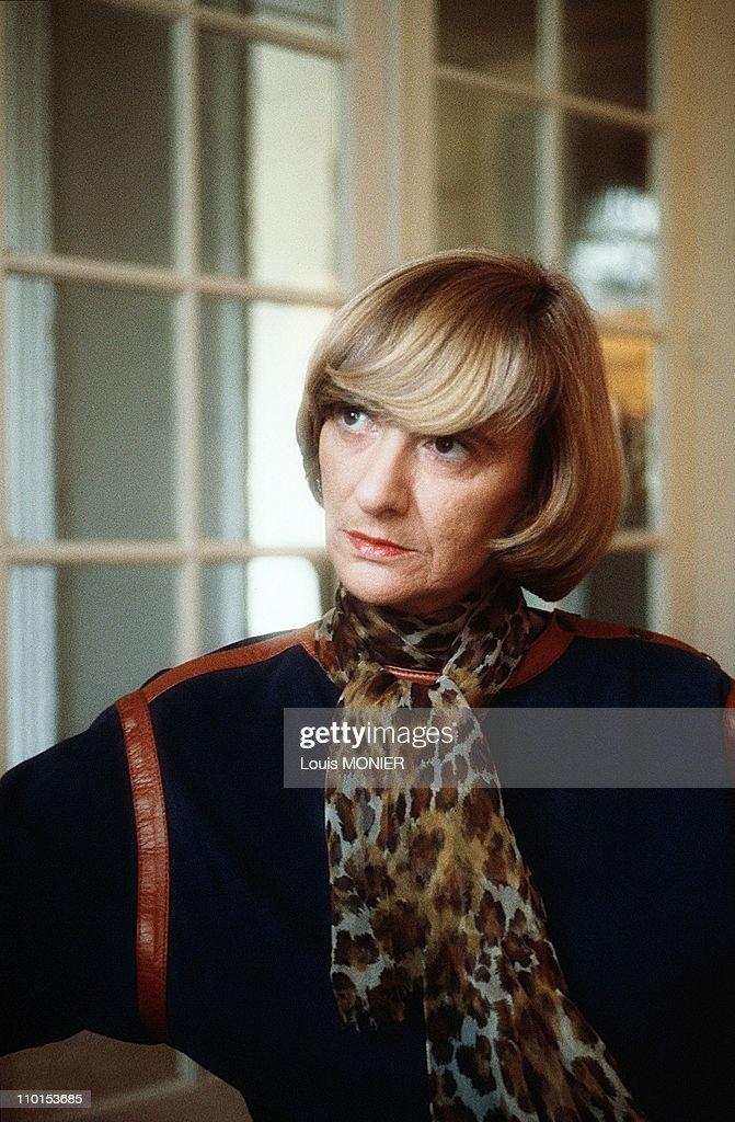 Archive Francois Sagan in France in October 1988