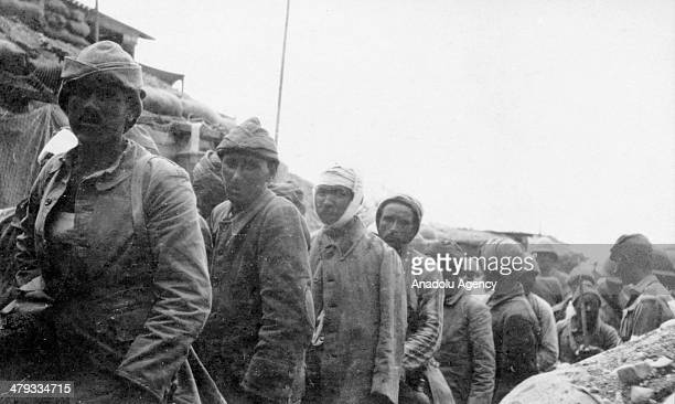 Archive pictures show the Turkish troops during the Dardanelles Campaign also known as Gallipoli Campaign that took place on the Gallipoli peninsula...