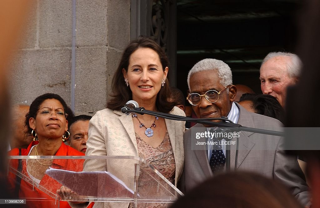 Archives <a gi-track='captionPersonalityLinkClicked' href=/galleries/search?phrase=Aime+Cesaire&family=editorial&specificpeople=2045412 ng-click='$event.stopPropagation()'>Aime Cesaire</a> In Fort de France, Martinique On January 26, 2007-<a gi-track='captionPersonalityLinkClicked' href=/galleries/search?phrase=Aime+Cesaire&family=editorial&specificpeople=2045412 ng-click='$event.stopPropagation()'>Aime Cesaire</a> besides Segolene Royal, in visit in Fort de France, Martinique.