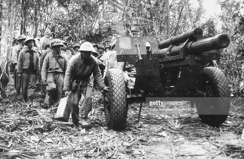 Dien Bien Phu Vietnam  city photos : Dien Bien Phu Battle In Dien Bien Phu, Vietnam In May, 1954 Artillery ...