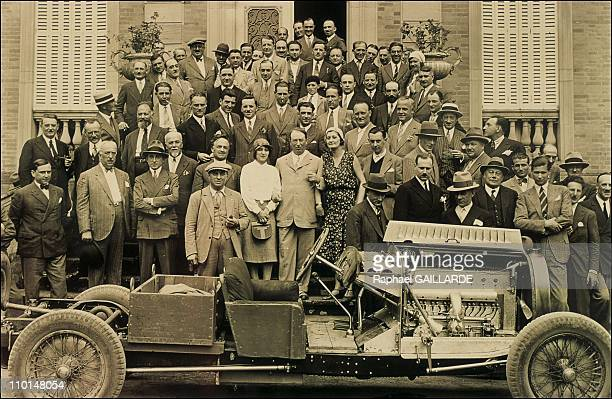 Archives of Ettore Bugatti in Molsheim France on September 10 1991 Photo of Bugatti family in Molshein 1935