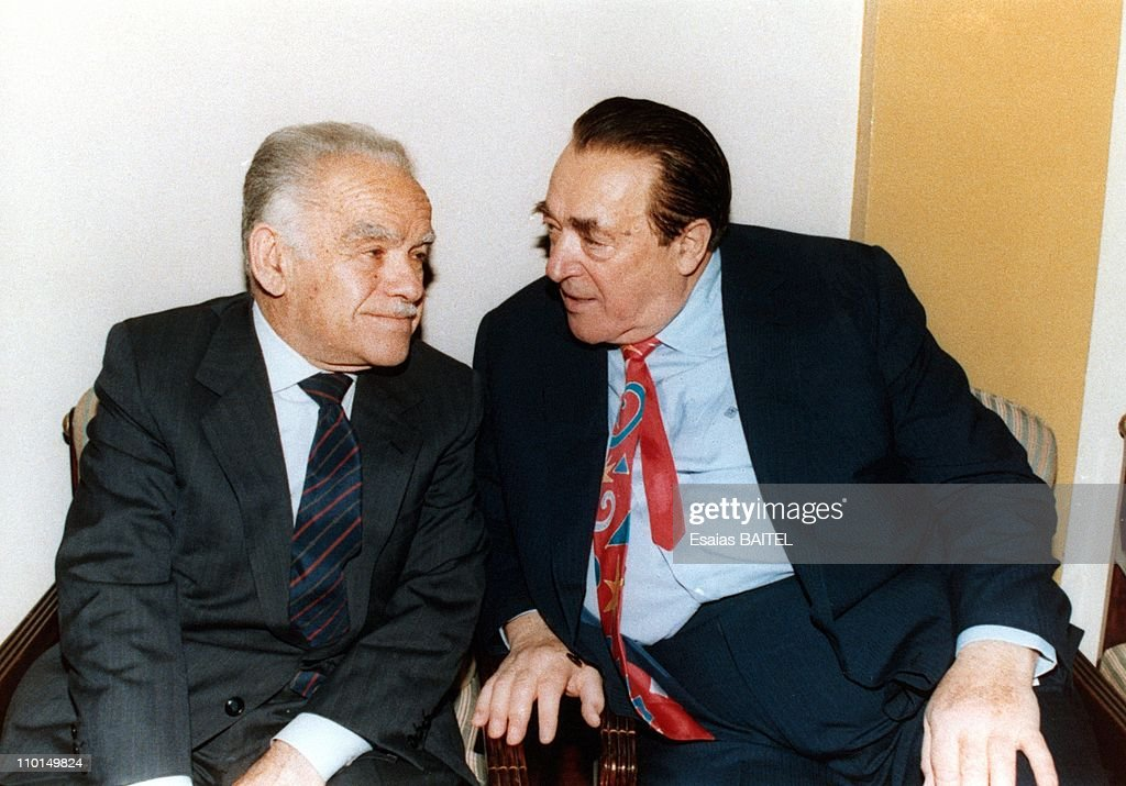 Archives of Robert Maxwell and YShamir in Israel in 1991