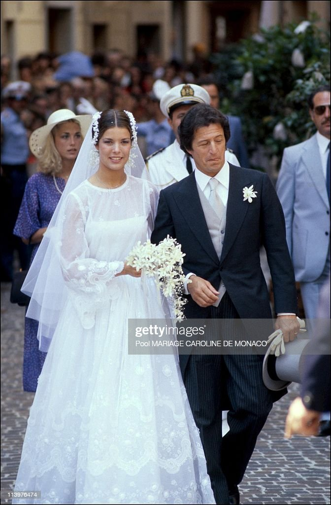 Wedding of Caroline and P-Junot Mariage cancelled by the vantican In Monaco city, Monaco On July 01, 1992.