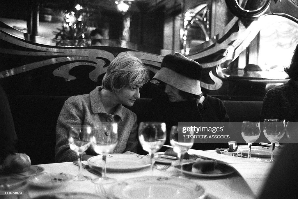 ArchivesFrancois and Juliette Greco at Maxim's in Paris France on September 25th 1963