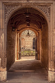 Archway at the Bodleian library in Oxford, England