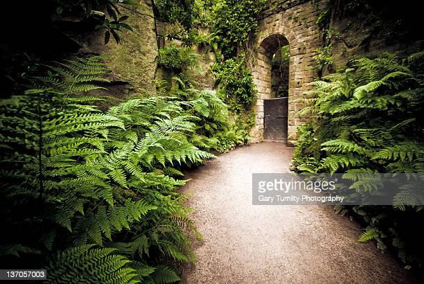 Archway in secret garden of Ferns