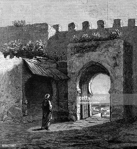 Archway in tangier morocco historic image 1883