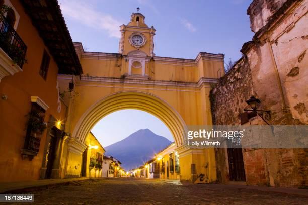 Archway on Antigua street, Antigua, Guatemala