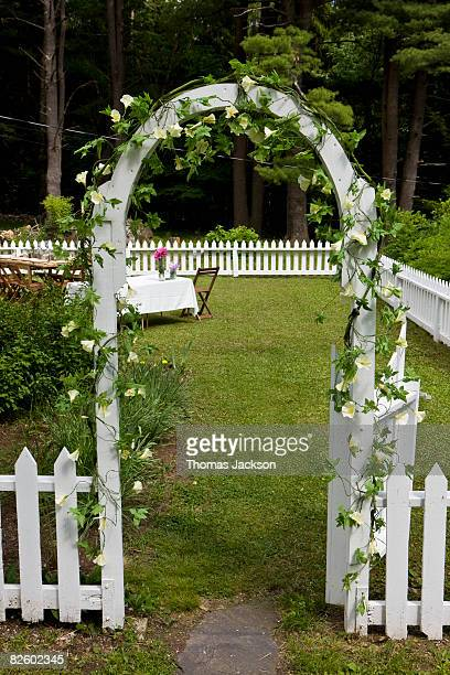 Archway outside country home