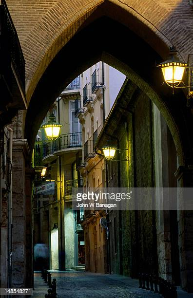 Archway over street, old city.