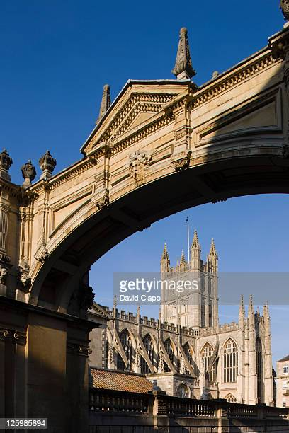 Archway over York Street with Bath Abbey underneath, Bath, Somerset, England