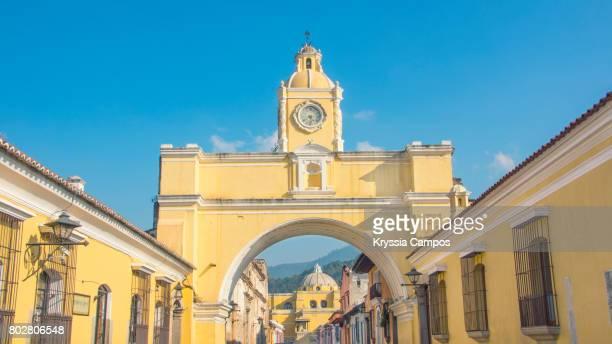 Arco de Santa Catalina (Santa Catalina Arch) and La Merced Church in Antigua Guatemala