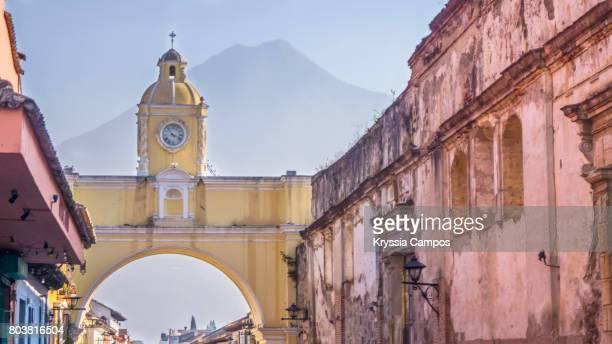 Arco de Santa Catalina (Santa Catalina Arch) and Volcano