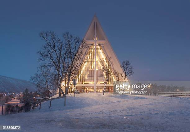 Arctic Cathedral at night