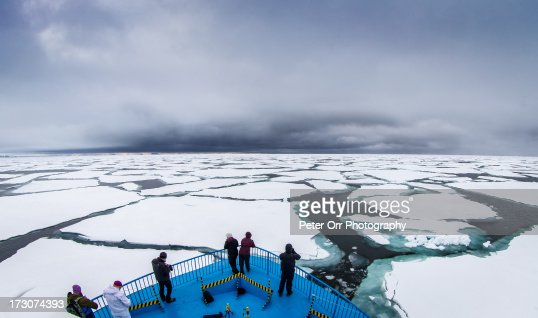 Arctic Ice with storm approaching
