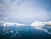 Arctic Icebergs and Ice Floes Ilulissat Fjord North Pole Seascap