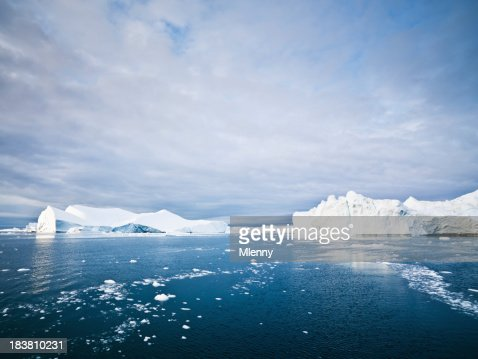Arctic Icebergs and Ice Floes Ilulissat Fjord North Pole Seascape