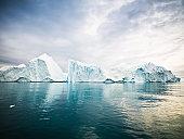 Arctic Icebergs Greenland North Pole