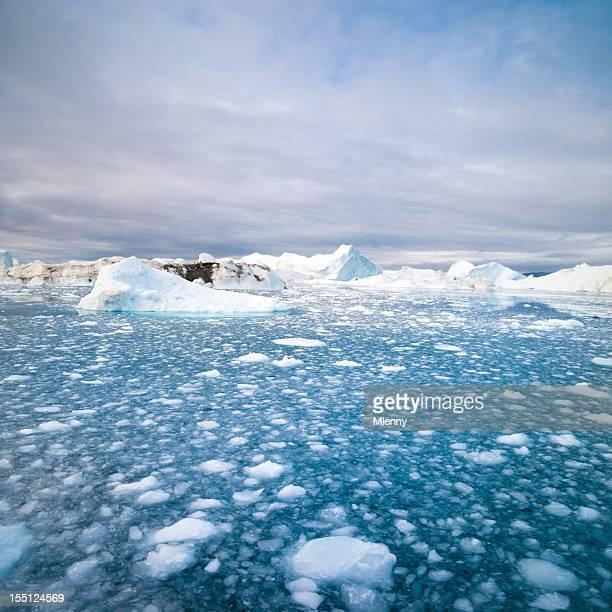 Arctic Icebergs North West Greenland