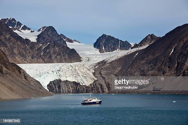 Arctic landscape in Spitzbergen Krossfjord Tinayrebukta