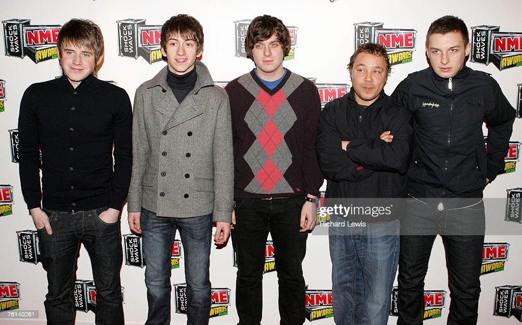 Arctic Monkeys arrive at the Shockwaves NME Awards 2007