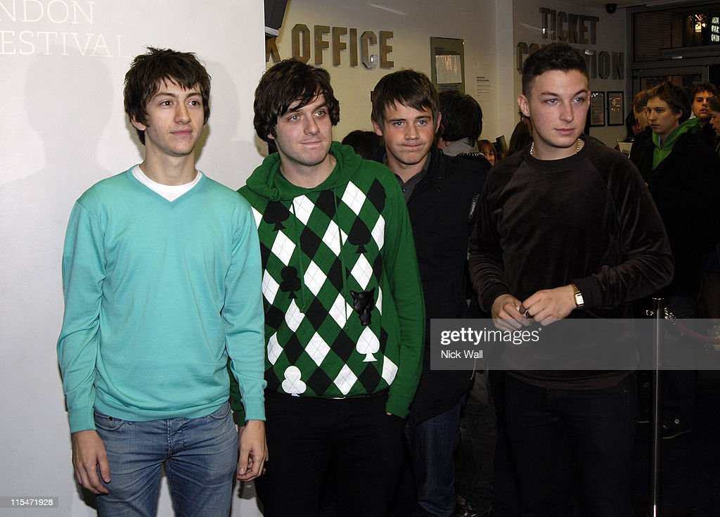 <a gi-track='captionPersonalityLinkClicked' href=/galleries/search?phrase=Arctic+Monkeys&family=editorial&specificpeople=274715 ng-click='$event.stopPropagation()'>Arctic Monkeys</a> during The Times BFI London Film Festival 2006 - ''This is England'' - Premiere at This is Englan in London, Great Britain.