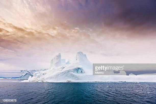 Arctic Moody Sunrise Iceberg North West Greenland