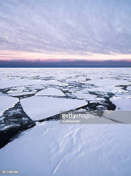Arctic Pack Ice Sunset