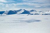 Arctic spring in south Spitsbergen. Around the fjord Hornsund.