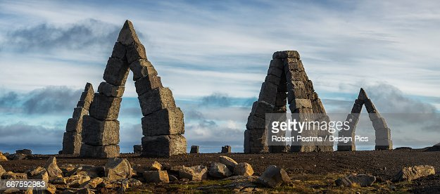 Arctic stonehenge, Northern Iceland