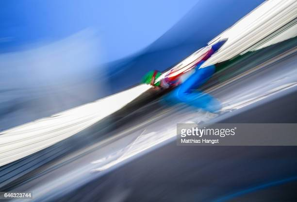 Arda Fathi Ipcioglu of Turkey in action during the Men's LH134 Ski Jumping Training during the FIS Nordic World Ski Championships on February 28 2017...