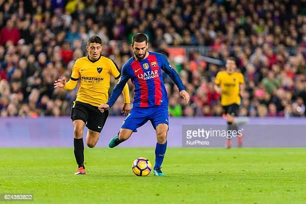 Arda Turan during the match between FC Barcelona vs Malaga CF for the round 12 of the Liga Santander played at Camp Nou Stadium on 19th November 2016...