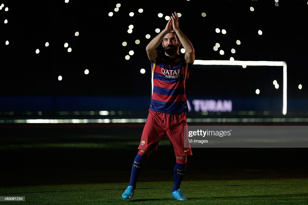 <a gi-track='captionPersonalityLinkClicked' href=/galleries/search?phrase=Arda+Turan&family=editorial&specificpeople=2179402 ng-click='$event.stopPropagation()'>Arda Turan</a> of FC Barcelona during the Joan Gamper Trophy match between Barcelona and AS Roma on August 5, 2015 at the Camp Nou stadium in Barcelona, Spain.