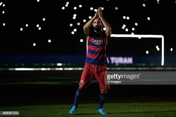 Arda Turan of FC Barcelona during the Joan Gamper Trophy match between Barcelona and AS Roma on August 5 2015 at the Camp Nou stadium in Barcelona...