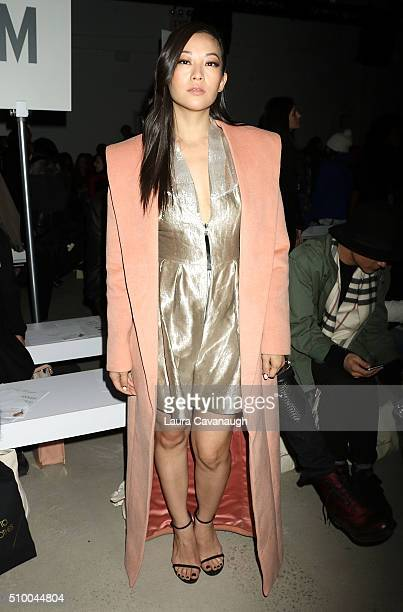 Arden Cho attends Leanne Marshall show during Fall 2016 New York Fashion Week The Shows at The Gallery Skylight at Clarkson Sq on February 13 2016 in...