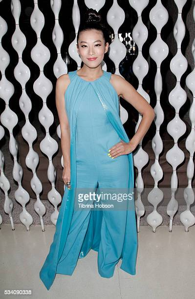 Arden Cho attends the Wolk Morais Collection 3 Fashion Show at The Standard Hollywood on May 24 2016 in West Hollywood California