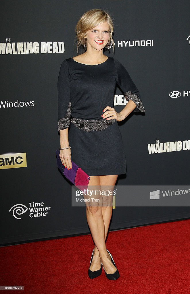 Arden Myrin arrives at the Los Angeles premiere of AMC's 'The Walking Dead' 4th season held at Universal CityWalk on October 3, 2013 in Universal City, California.