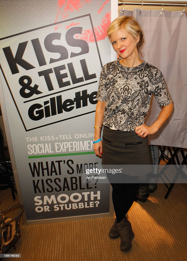 Arden Myrin attends Gillette Ask Couples at Sundance to 'Kiss & Tell' if They Prefer Stubble or Smooth Shaven - Day 2 on January 19, 2013 in Park City, Utah.
