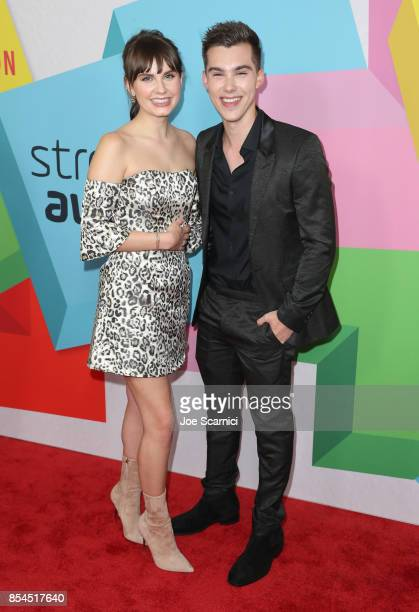 Arden Rose and Jeremy Shada at the 2017 Streamy Awards at The Beverly Hilton Hotel on September 26 2017 in Beverly Hills California