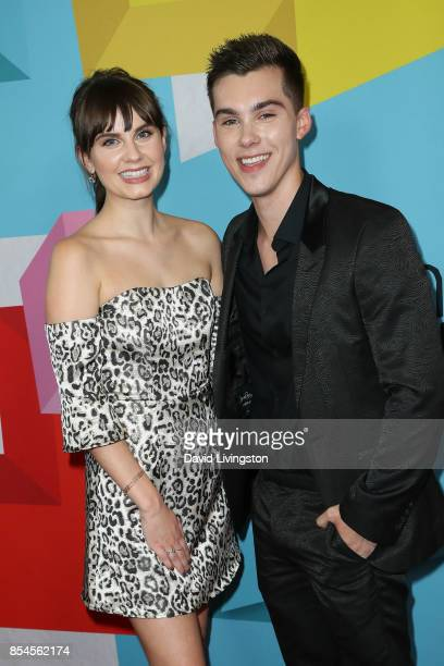 Arden Rose and Jeremy Shada attend the 7th Annual 2017 Streamy Awards at The Beverly Hilton Hotel on September 26 2017 in Beverly Hills California