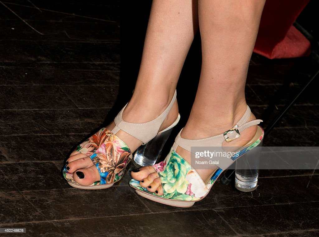 Arden Wohl (shoe detail) attends the 'Mood Indigo' New York Premiere at Tribeca Grand Hotel on July 16, 2014 in New York City.