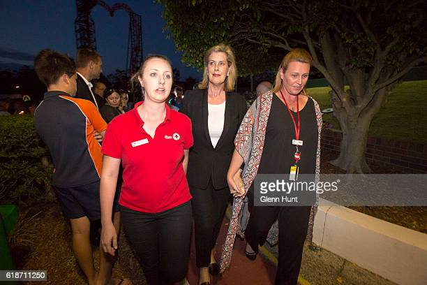 Ardent Leisure CEO Deborah Thomas attends a candlelight vigil outside Dreamworld on October 28 2016 in Gold Coast Australia Four people were killed...