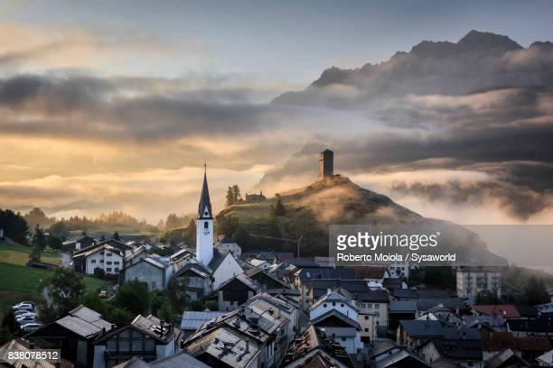 Ardez at sunrise, Switzerland