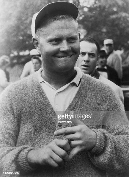 Jack Nicklaus one of the best amateur American golfers counts on his figures to find he is under par for the 2nd consecutive day of the World Team...