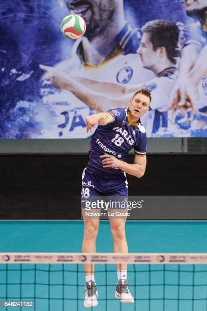 Ardo Kreek of Paris during the volleyball Ligue A match between Paris Volley and Nantes Reze at Salle Pierre Charpy on February 23 2017 in Paris...