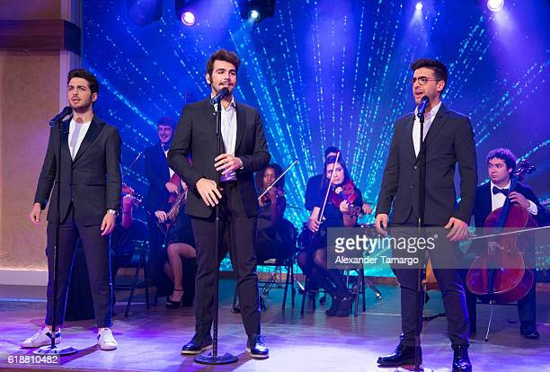 VOLO are seen performing on the set of 'Despierta America at Univision Studios on October 28 2016 in Miami Florida