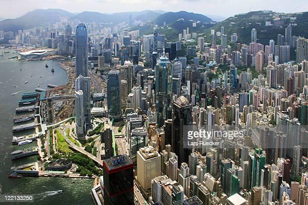 Areal view of Hong Kong